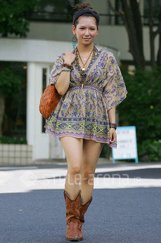 夏日时尚风——东京清凉街拍
