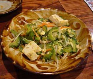 冲绳特色菜——风苦瓜炒豆腐
