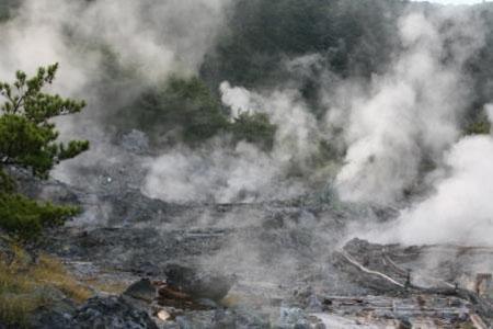 地狱烟雾缭绕——云仙温泉旅游