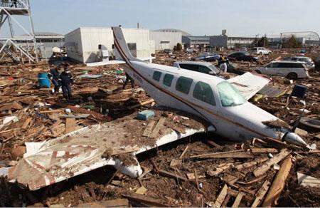 宫城县因海啸引起飞机失事事故