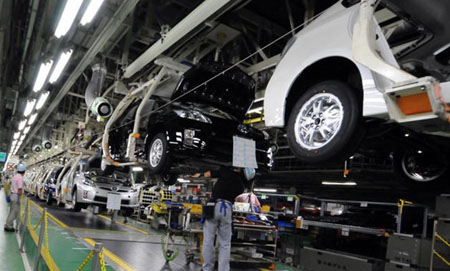受地震影响 丰田15、16日全场停止生产运作