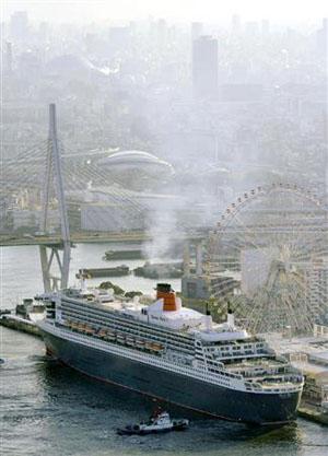 世界最大豪华客船现身大阪港