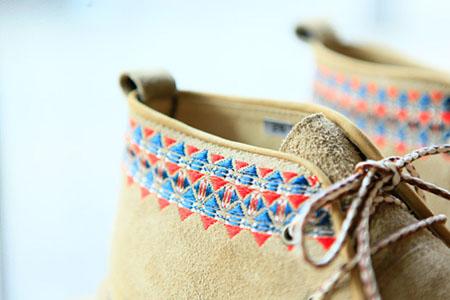 White Mountaineering刺绣鞋款 民族风浓郁