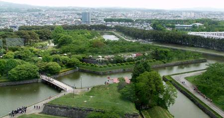日本最早欧式城堡——五稜郭公园