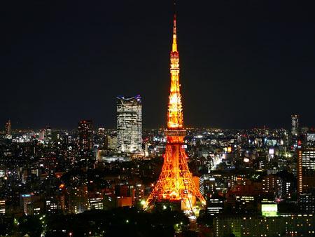 不倒的东京铁塔 坚强的日本