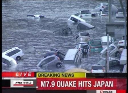 日本本洲东部发生强烈地震 已引发严重海啸