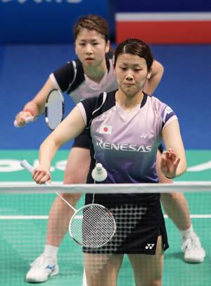 世界羽联黄金大奖赛女双决赛 日本夺得冠军
