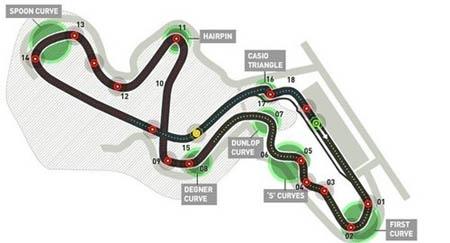铃鹿赛道将继续办2011年F1日本大奖赛