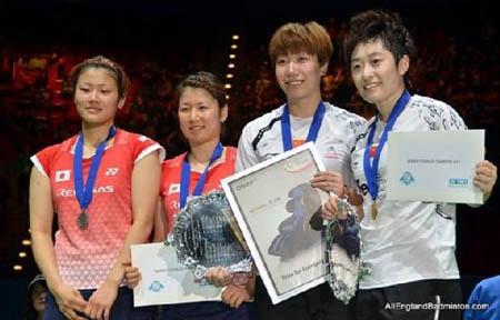 『全英赛』中国组合2-0击败日本组合夺女双冠军