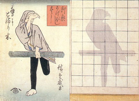 日本的影子画艺术:Kage-e