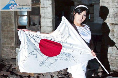 爱心跨越国界 各国COSPLAYER用照片祝福日本