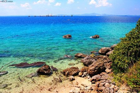 琉球群岛伊计岛 细白丰厚的海滩