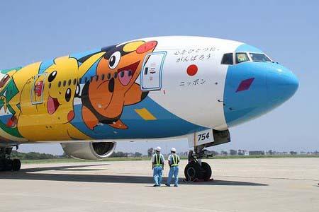 全日空全新口袋妖怪喷气式飞机亮相仙台机场