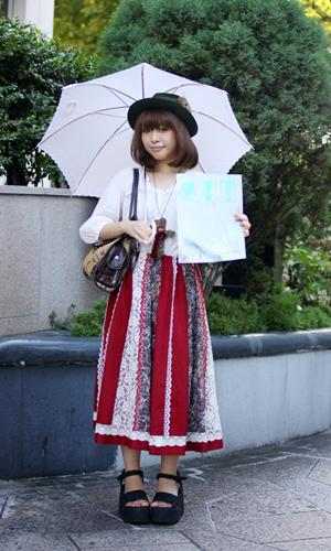 长裙飘飘 东京秋日街头新时尚