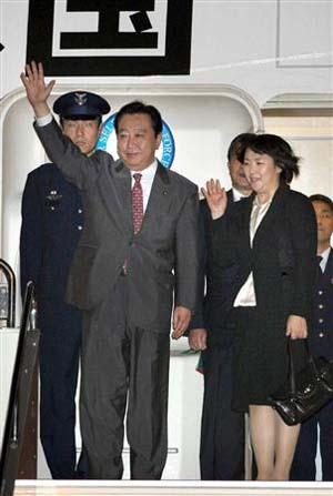 日本首相野田佳彦展开访美行程 夫人仁实陪同