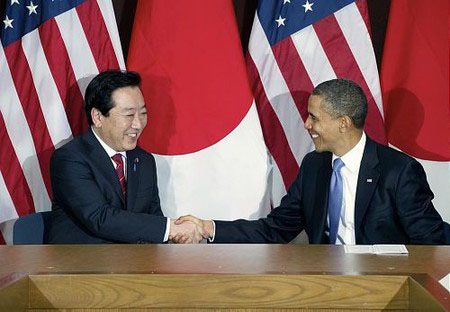 """日美首脑会谈举行 野田佳彦称是""""很好的开端"""""""
