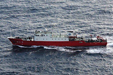 日媒:中国海洋调查船连续两日出现在钓鱼岛周边海域