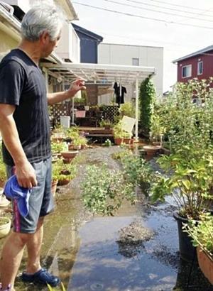 塔拉斯过后 静冈县富士宫市出现多处地下涌水点
