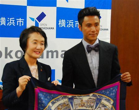陈坤称将努力宣传横滨市的城市魅力