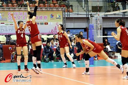 女排亚锦赛 中国将与日本队争冠