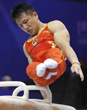 2011年体操世锦赛 中国队发挥失常 日本列男团预赛首位
