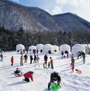 光辉的冰蜡灯与雪屋祭典