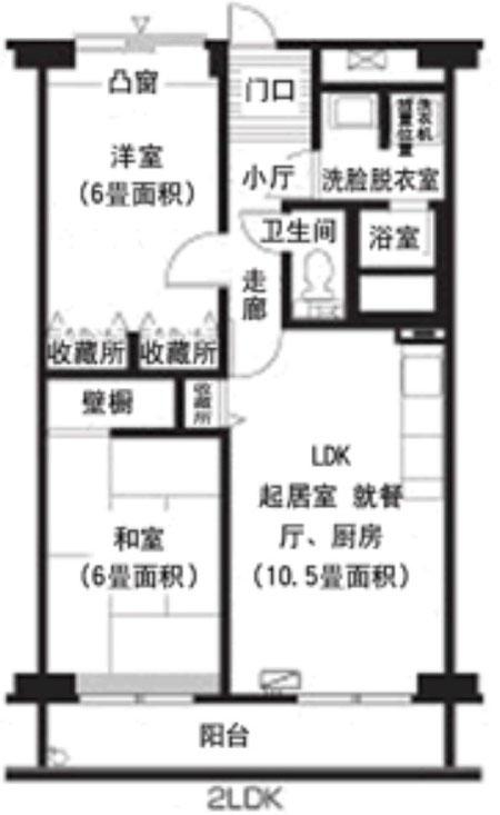 日本住宅大小与房间布局