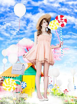 甜美女神藤井莉娜GRL夏装大片 玩转极致梦幻少女诱惑(1)