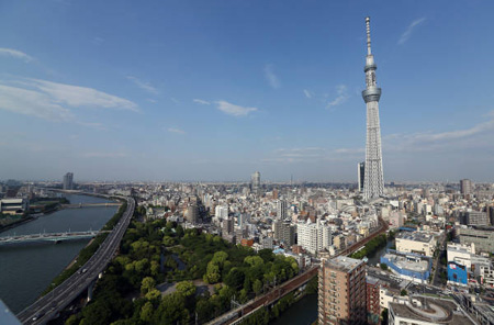 全球最高电视塔东京天空树今日开业迎宾