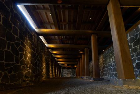 熊本城本丸御殿黑暗通道