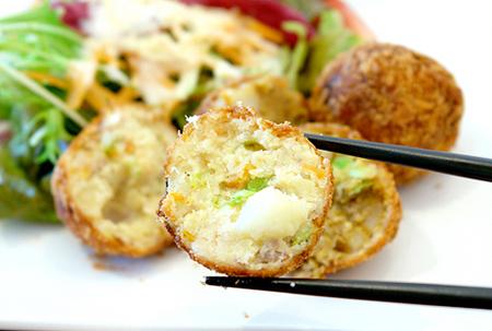韭菜炸肉饼