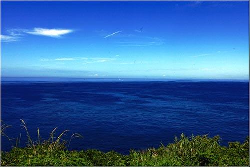 长崎伊王岛恬静的海