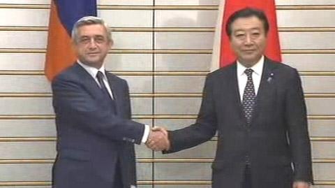 日本亚美尼亚首脑会谈将加强防灾领域合作