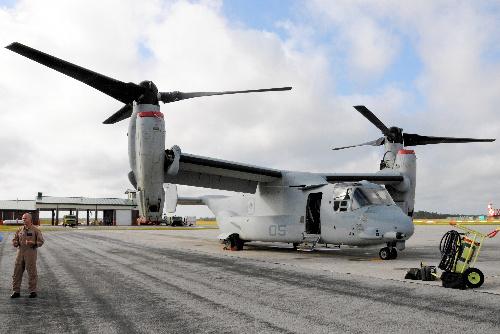 鱼鹰运输机将暂时配置岩国基地 当地表示反对