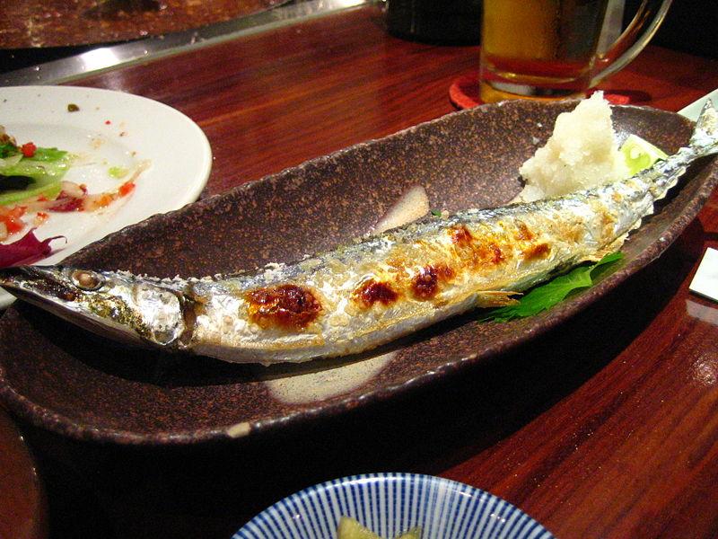 盐烧秋刀鱼