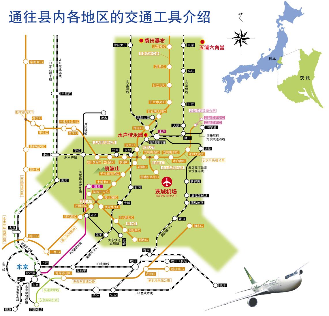 通往县内各地区的交通工具介绍