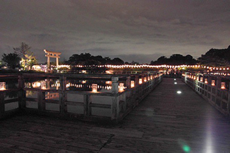 长冈京八条池200烛光点燃梦幻仲夏夜