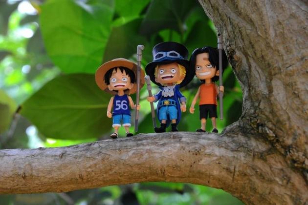 海贼王手办登场路飞与艾斯的童年-日本动漫_飒教程绘画漫画