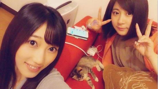 副岛美咲(左)为小野惠玲奈下海传闻抱不平