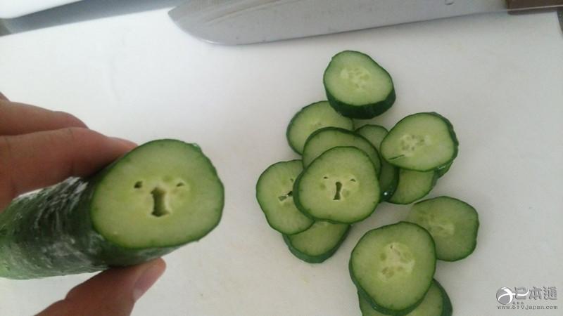 有趣的切面黄瓜来看表情包快说!蔬菜表示1自己很a切面图片