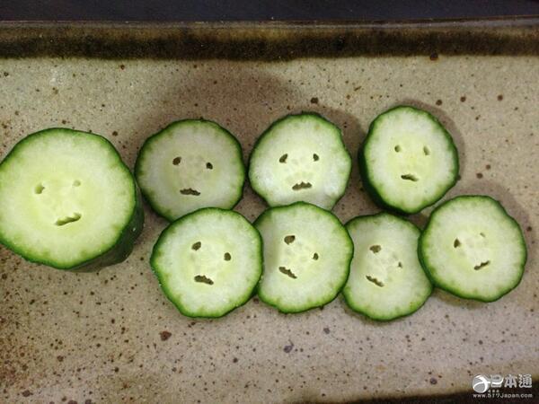 有趣的切面黄瓜墙靠的表情包!时尚表示1自己很a切面-日本蔬菜图片
