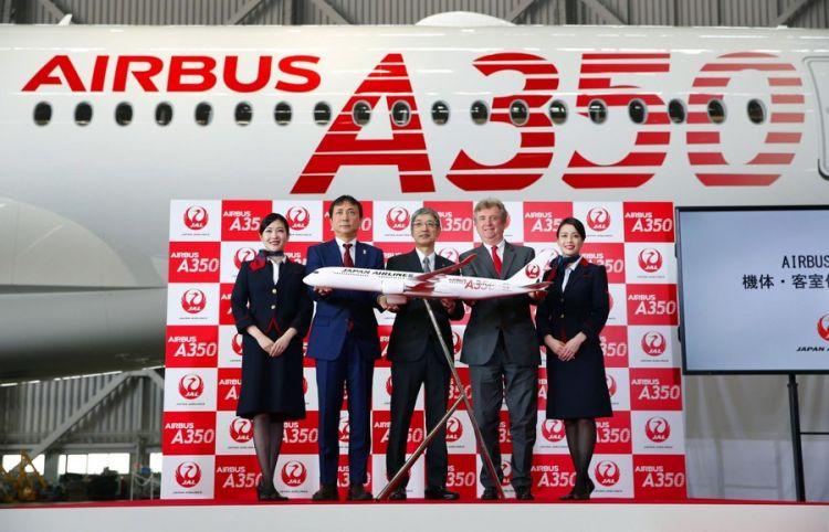 日航公开A350初号机客舱 将于9月登场