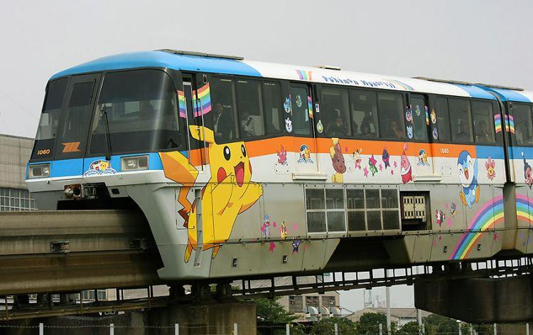 """东京单轨电车成立55周年推出""""pokemon单轨电车"""""""
