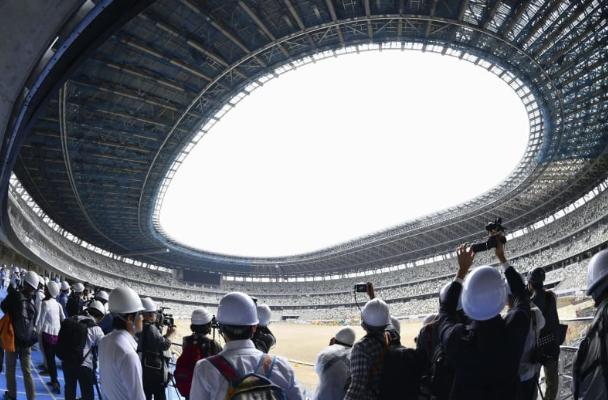2020东京奥运会主场馆新国立竞技场已完成近九成