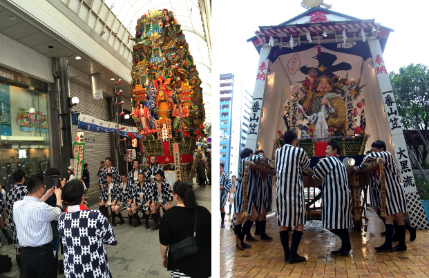 九州博多祇园山笠祭进行时