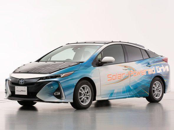 丰田普锐斯太阳能混动车进行试行实验