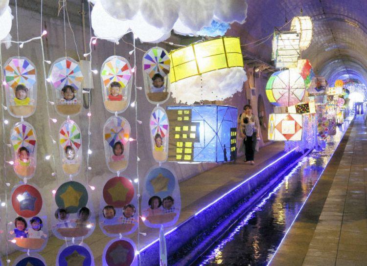 """熊本县高森町的夏季风物诗""""纳凉七夕祭""""在隧道公园举行"""