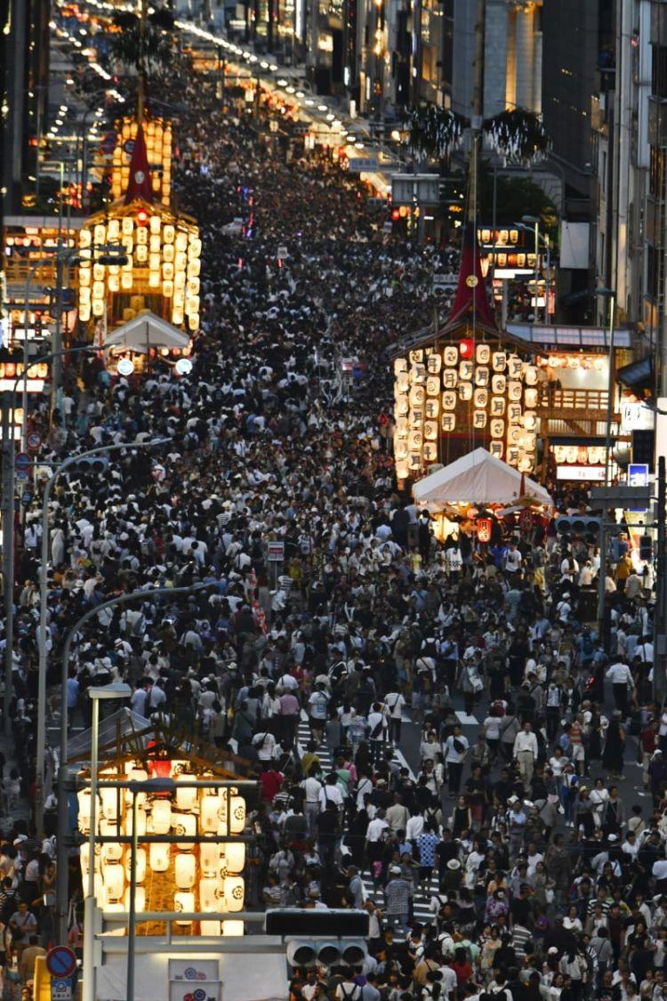 京都祇园祭举行山鉾巡回前祭