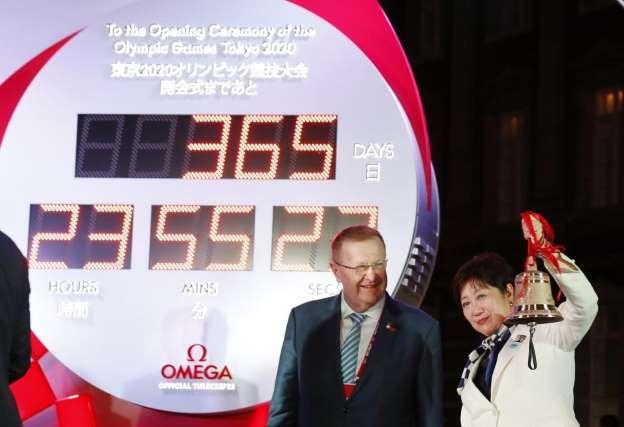 2020东京奥运会进入365天倒计时!东京丸之内现大型倒计时表
