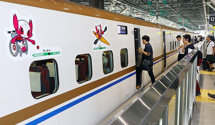 日本富山县的北陆新干线公开东京奥运会外装